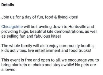 Kite fest details