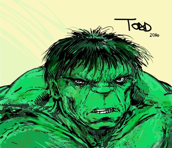 Sketch Todd McFarlane Hulk