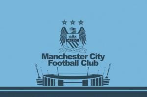 Manchester City's Edin Dzeko celebrates after scoring his team's second goal
