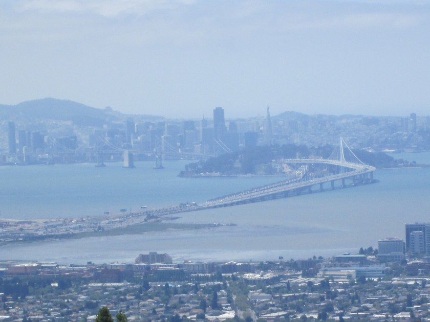 Bay Bridge and San Francisco on a not-so-clear day