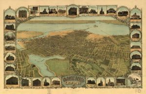 Fred Soderberg. Oakland, California, 1900. San Francisco: 1900. Color lithograph. Geography and Map Division, Library of Congress.