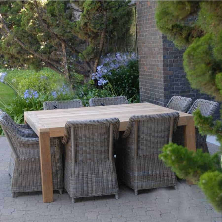 Wicker Outdoor Dining Chairs Wicker Outdoor Dining Chair Monaco