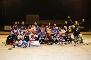 Matthew Robins (Top Left) at his last practice in Subotica, Serbia.