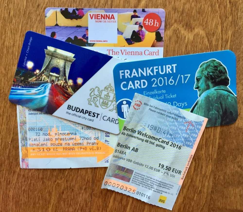 Les cartes de transport Welcome Card sont bien utiles pour voyager en Europe