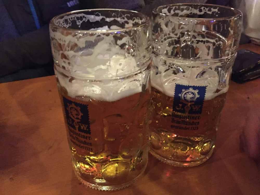 Bière à l'Oktoberfest de Munich en Allemagne
