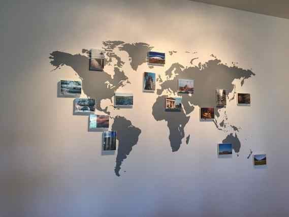Carte du monde appliqué