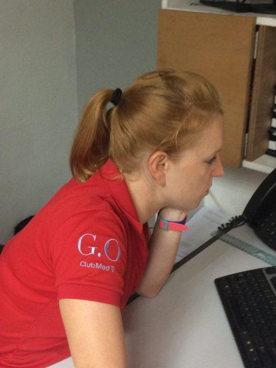 Jessica au travail GO Club Med