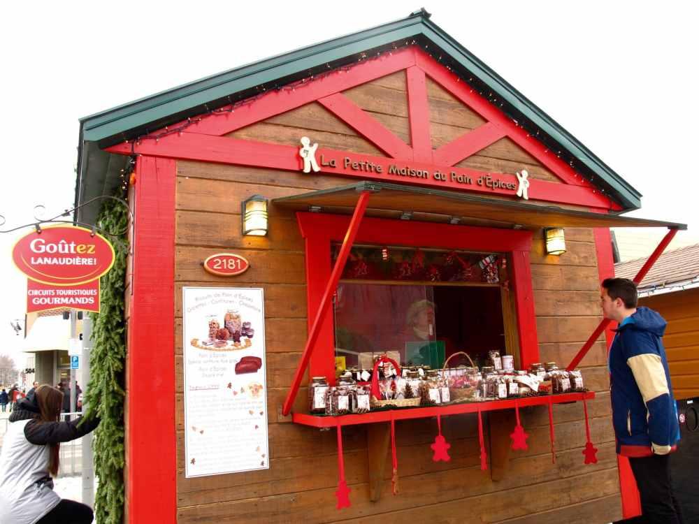 Maison au pain d'épices au Marché de Noël de Joliette
