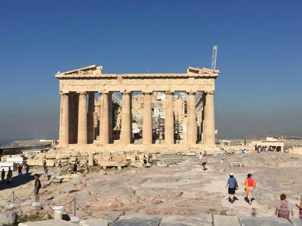 L'Acropole d'Athènes aux petites heures du matin, Grèce