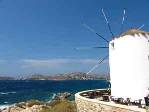 Moulin sur l'île de Paros, Grèce