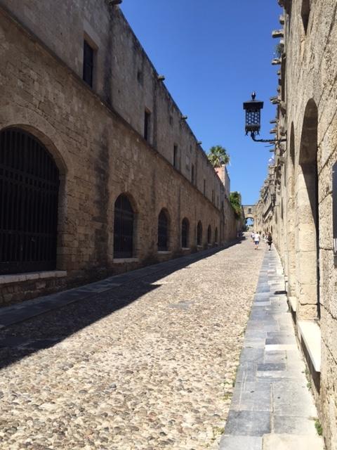 La promenade des chevaliers à Rhodes, Grèce