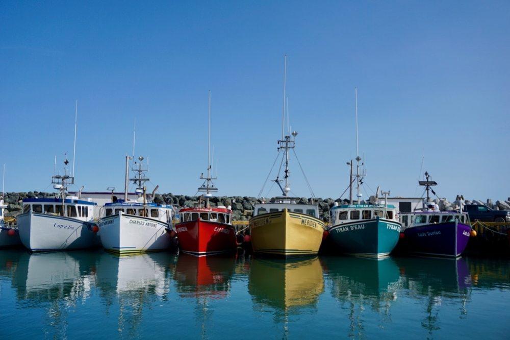 Bateaux de pêche Pointe Basse Îles de la Madeleine
