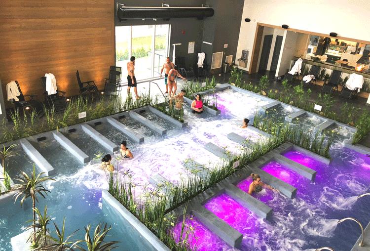 Le Noah Spa avec son concept eaunergique à l'hôtel la Cache du Lac Champlain à Venise-en-Québec, Montérégie, Québec