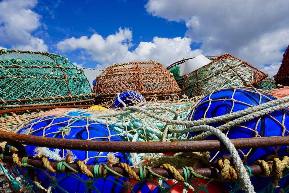 Cages pour la pêche aux crabes à Sept-Îles