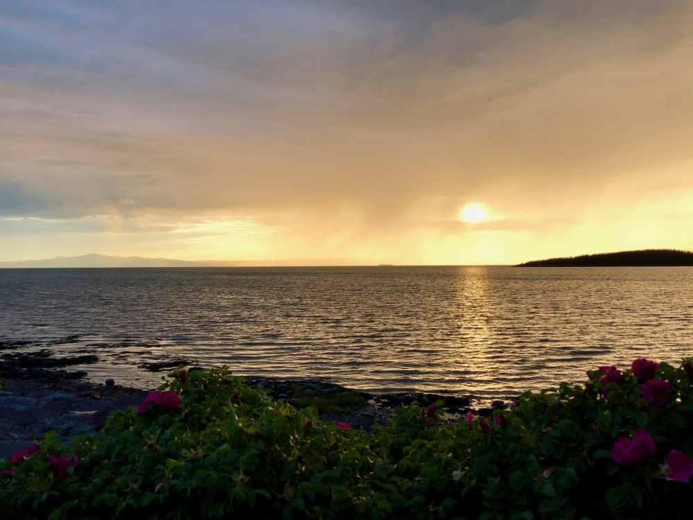 Coucher de soleil à Kamouraska