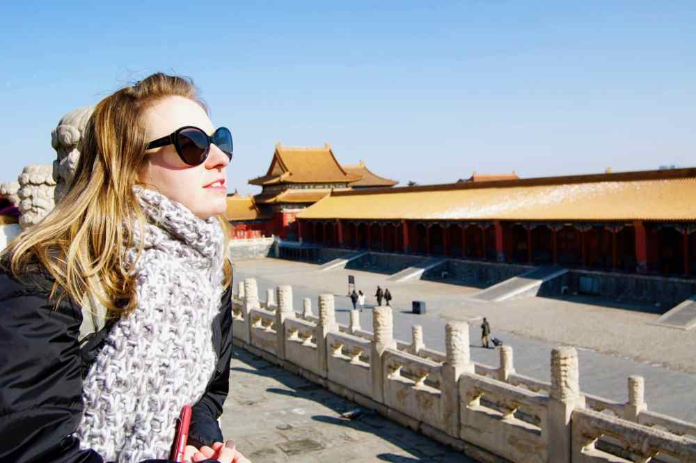 En Chine à Beijing à la Cité interdite en plein hiver