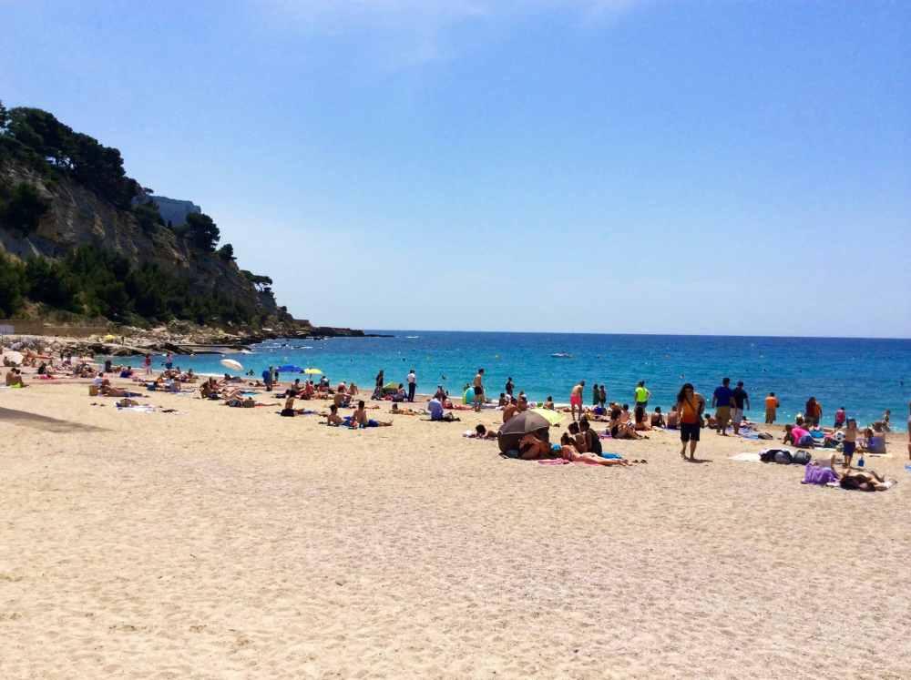 La magnifique plage de Cassis, Provence, France
