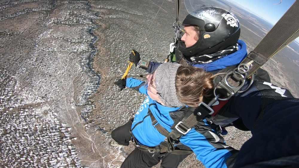 Saut en parachute au Grand Canyon en Arizona