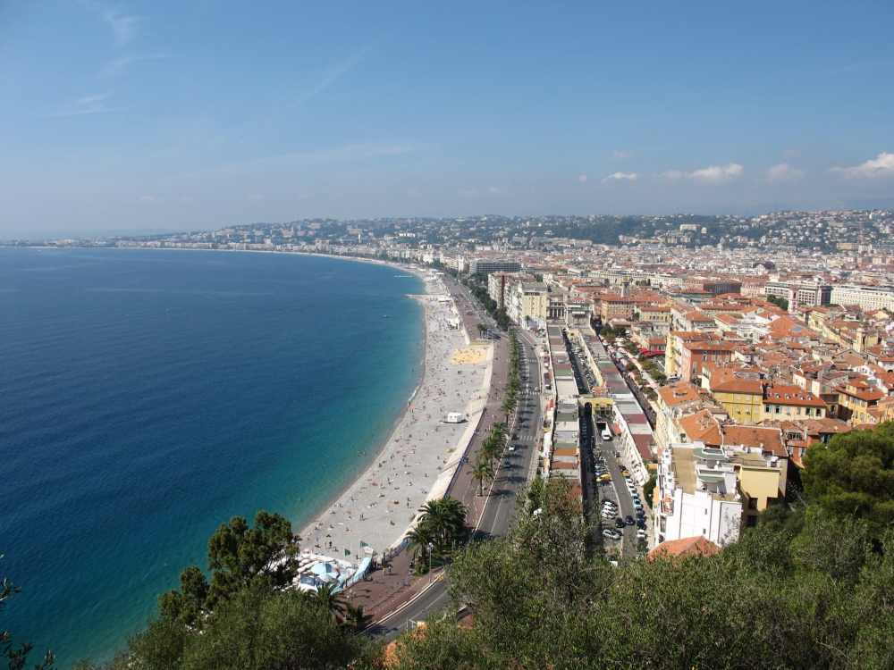 Vue sur Nice depuis le Mont Boron, France