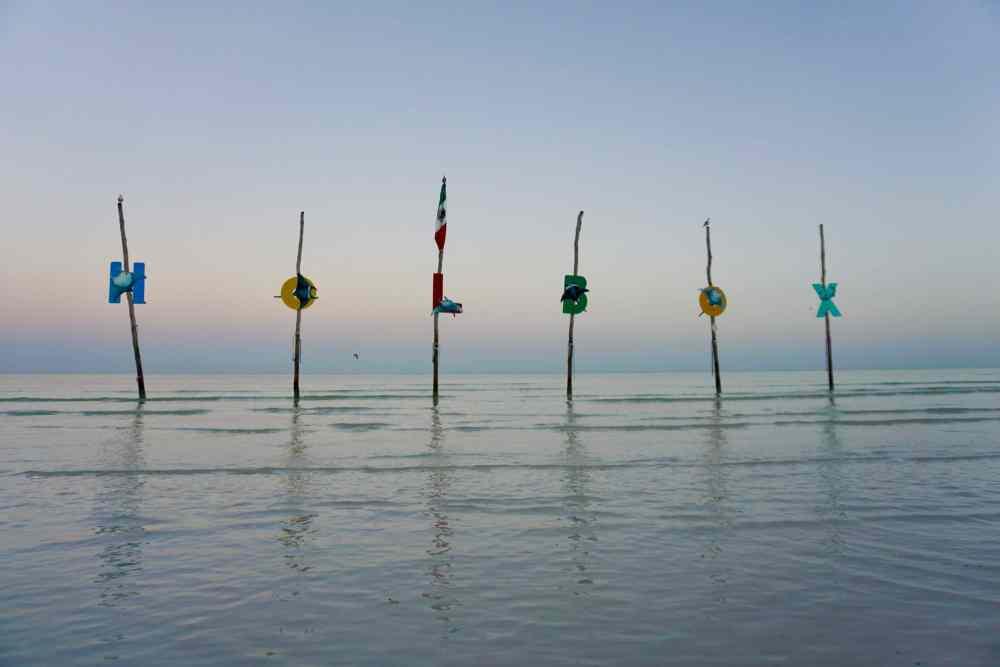 Le signe Holbox au lever soleil