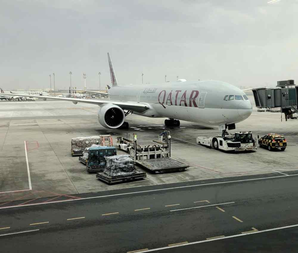 Qatar Airways Aéroport de Doha à la porte d'embarquement