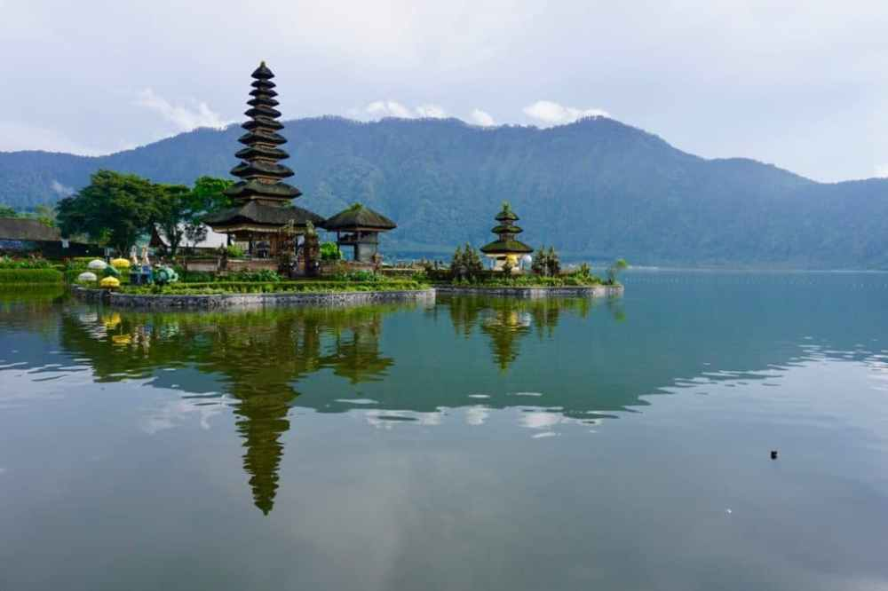 emple Ulun Danu Beratan Bali, près de Munduk, Indonésie