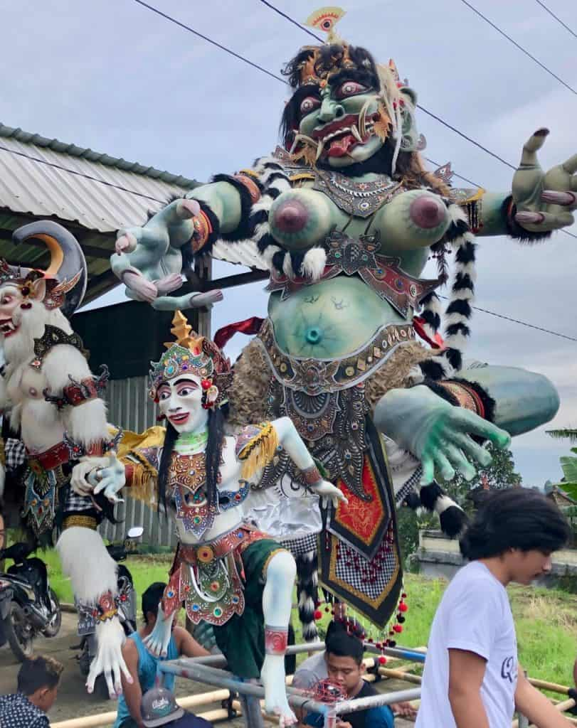 Jour du silence Nyepi Bali Ogoh Ogoh