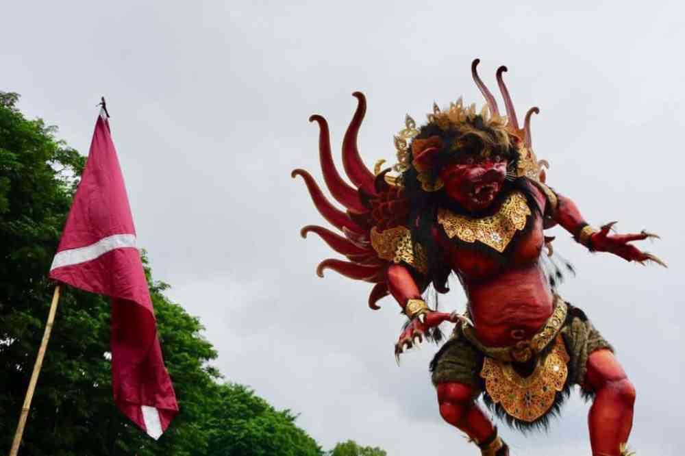 Ogoh Ogoh pour le Nyepi à Bali