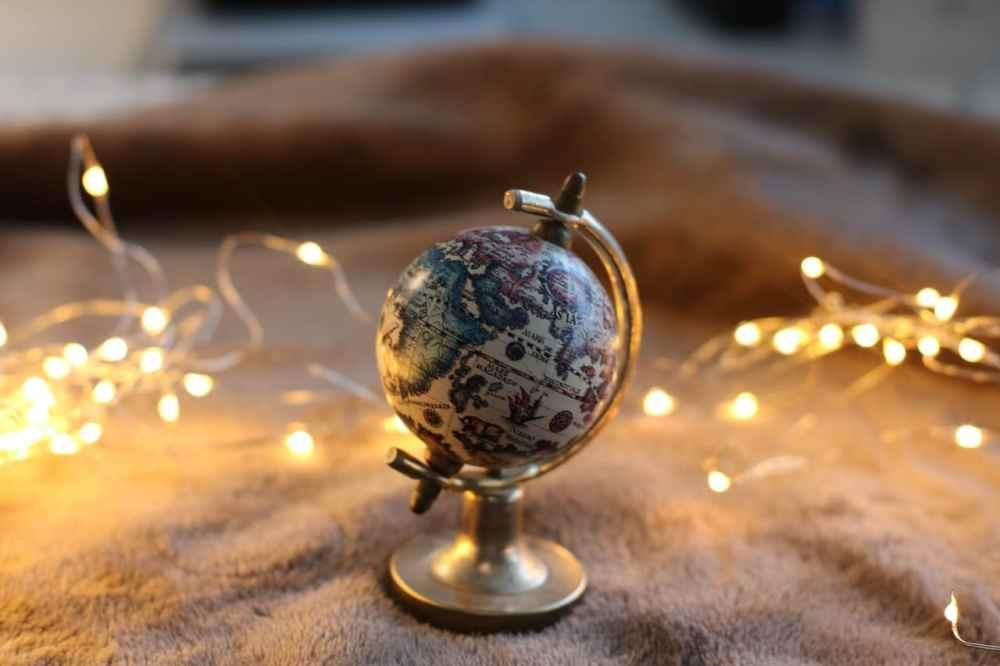 Mini globe-terrestre décoration maison voyage