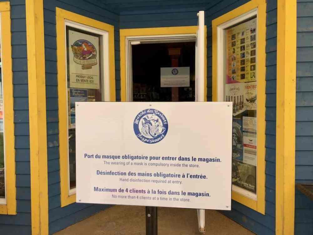 Le marché des saveurs gaspésiennes à Gaspé
