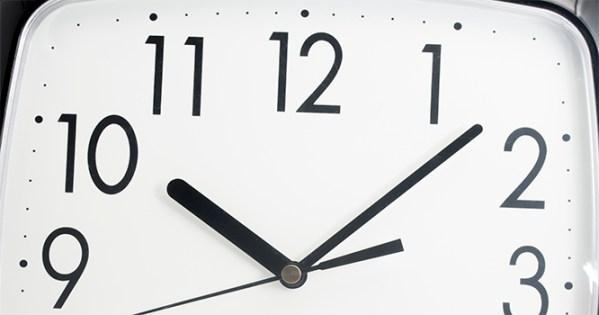 clock showing 10:07