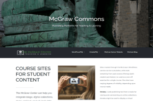 Screenshot of the McGraw Commons site at commons.princeton.edu