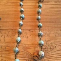 grey clay necklace (short)