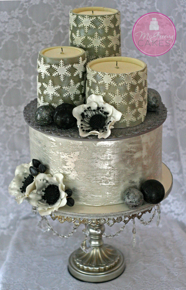 Edible Candles  Antique Silver Leaf Tutorials  McGreevy