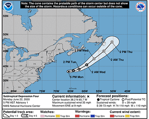 Tropical Storm Dolly 5-Day Uncertainty Track Image