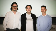 Dr. Matei Radulescu with students Justin Tang and She-Ming (Shem) Lau-Chapdelaine.