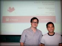 Rohit Bhattacharjee with supervisor Dr. Matei Radulescu.