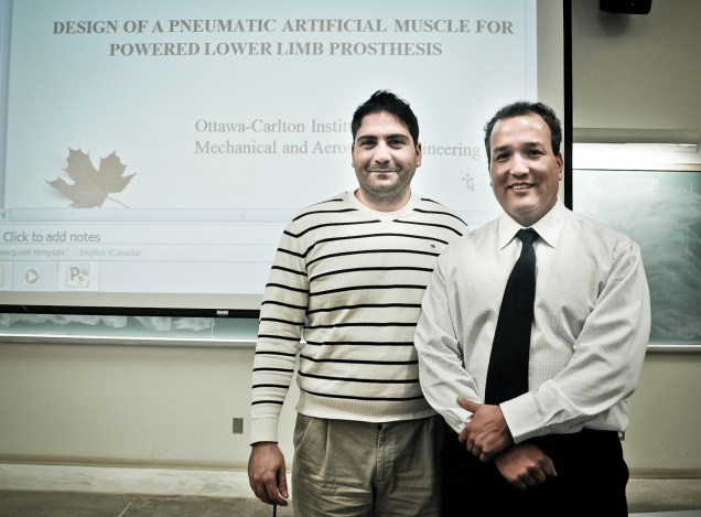 Dr. Marc Doumit with MASc student Jaime Murillo