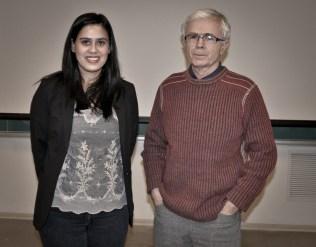 Elisha Pruner with supervisor Dr. Dan Necsulescu