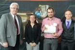 Ruben Fernandez with me, Dean Lague (L) and former department chair, Dr. Bertrand Jodoin (R).