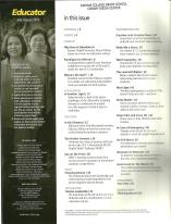 Educator July-August 2013 Table of Contents