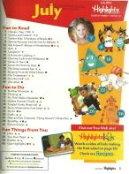 Highlights for Children July 2013 Volume 68 Number 7 Issue Number 741 Table of Contents