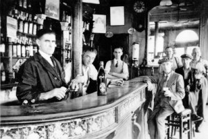 McGurks Bar - one of the victims, Mr. Patrick McGurk, is third from the left