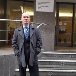 Ciarán MacAirt outside the Information Rights Tribunal in London