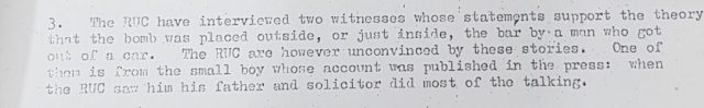 RUC and British Army Lies to British Government via Defence Secretariat 10 - Serial 3