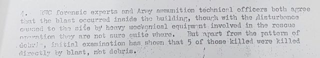 RUC and British Army Lies to British Government via Defence Secretariat 10 - Serial 4