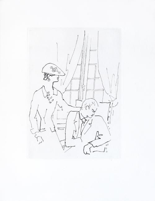 Le Bal Du Comte D'orgel : comte, d'orgel, Comte, D'Orgel,, Cocteau,, Etching,, Original, Print