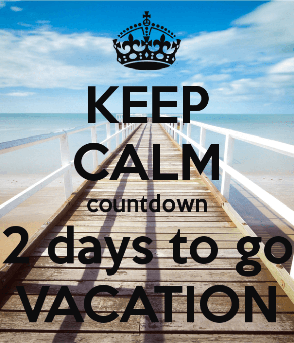 Vacation Countdown Day 2 M Chelsmusings