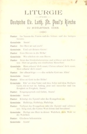 St. Paul's Liturgy, ca. 1918