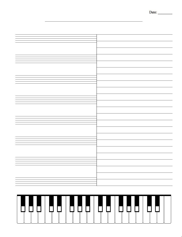 Musical Staff Paper